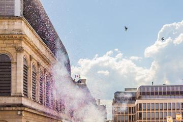 Jour de fête vers l'opéra de Lyon
