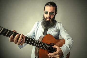 Man playing a song