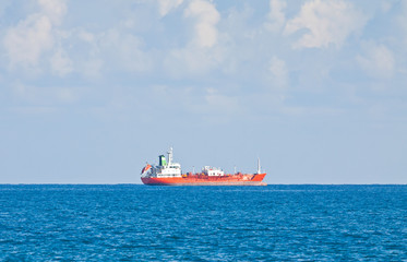 Ship in Mediterranean sea near Cyprus