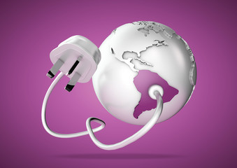 Electrical plug connects energy to South America