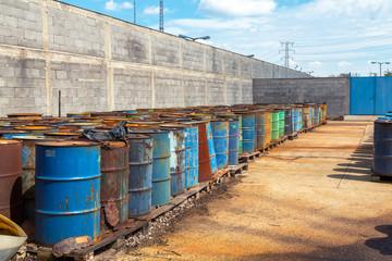 Several barrels of toxic