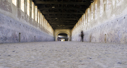 "Vigevano (Italy), the ""Covered Road"". Color image"