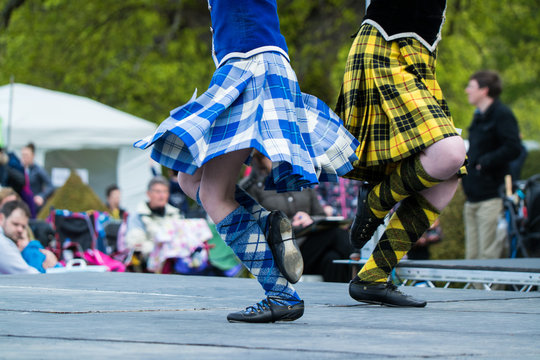 Traditional scottish Highland dancing