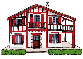 Photos illustrations et vid os de maison traditionnelle for Photos maison basque