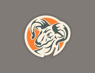 Goat vector icon logo
