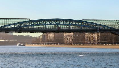 stock_Andrew pedestrian bridge in Moscow