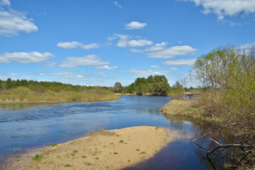 The river in early may.