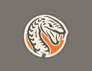 Snake vector icon logo