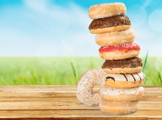 Donut, Unhealthy Eating, Stack.