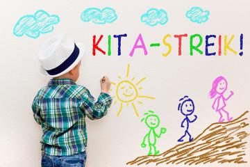 Kinderzeichnung - KITA-STREIK!