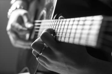 guitar player hands