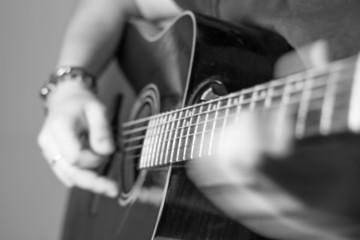 sliding hands on guitar