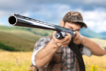 Hunter, Hunting, Rifle.