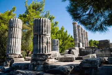 Temple of Athena ruins in Priene, Turkey