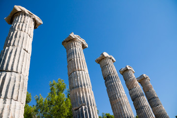 Priene, Ionic columns in Temple of Athena, Turkey