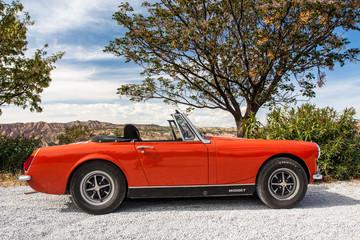 Old Midget red car