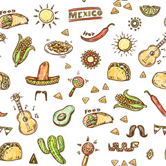 Mexican hand drawn pattern
