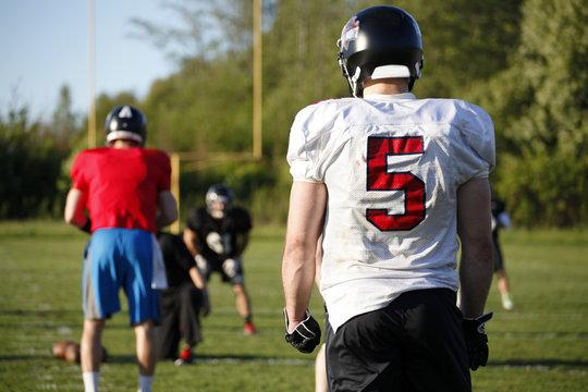 American Football practice