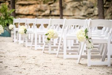 wedding isle on white sand