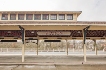 old historil classical rain station building