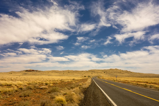road to Meteor Crater in Winslow Arizona USA
