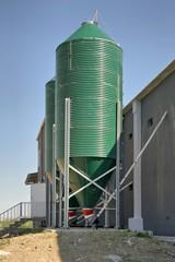 silos on a poultry farm