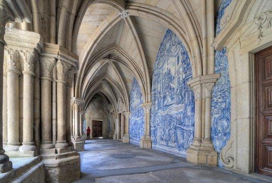Tourist in Porto Cathedral, Portugal