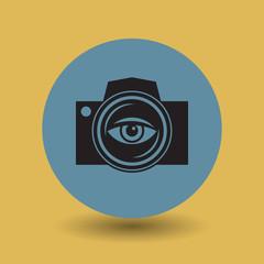 Camera lens symbol