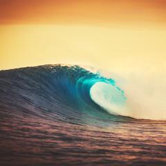 Photo sur Aluminium Eau Sunset Wave