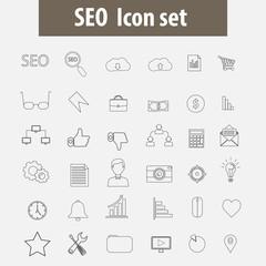 SEO icon set.