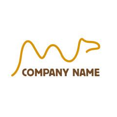 Simple Vector logo camel
