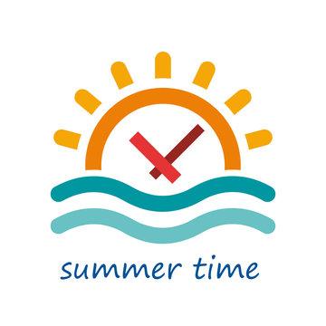 Vector logo summer time