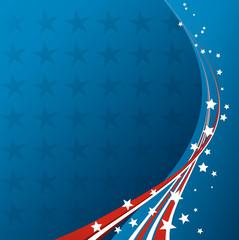 American Flag, Vector patriotic background