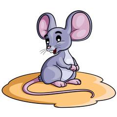 Mouse Cartoon Illustration of cute cartoon mouse.