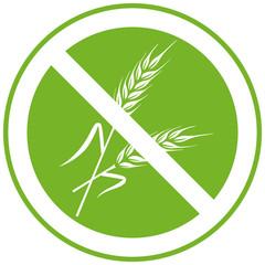 """Icon """"Glutenfrei"""", Vektor, grün, freigestellt"""
