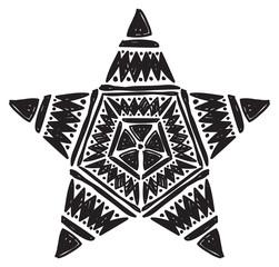 star shape tribal pattern