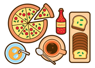 Food and beverage cute icon