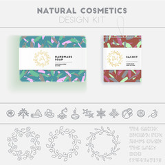 Natural cosmetics design kit