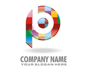 pb colorful symbol mark sign logo image vector