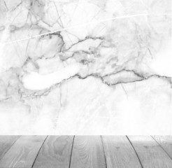 Marble walls and wood