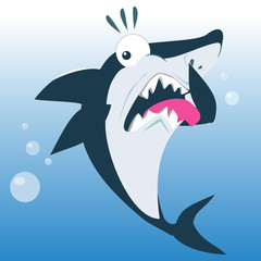 Funny Shark in Disgust Expression