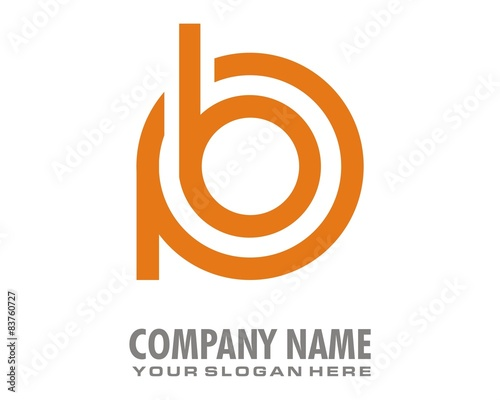 Pb Orange Symbol Mark Sign Logo Image Vector Stock Image And