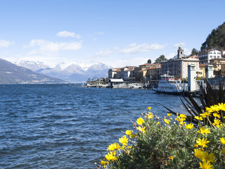 Dock of Bellagio with nineteenth-century historic homes.