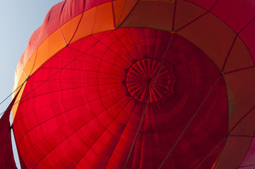 Foto op Aluminium Luchtsport Inside in hot air ballon