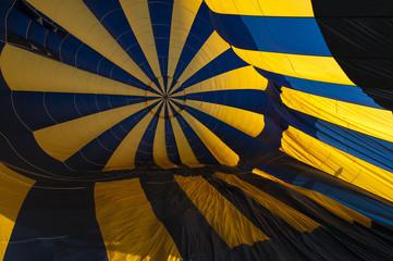 Inside in hot air ballon
