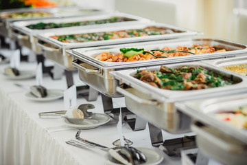 Photo sur Aluminium Buffet, Bar catering hochzeit