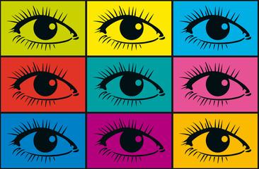 Fond Oeil x 9