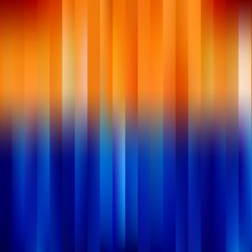 Blue-Orange Abstract Striped Background.