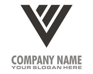 v mark logo image vector