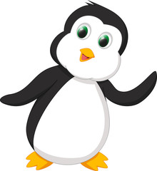happy penguin cartoon